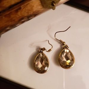 JUICY COUTURE Gold Crystal drop earrings